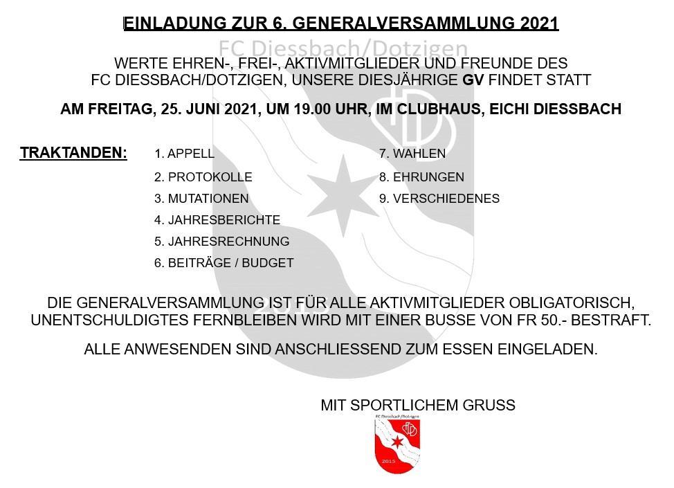 Einladung GV 2021